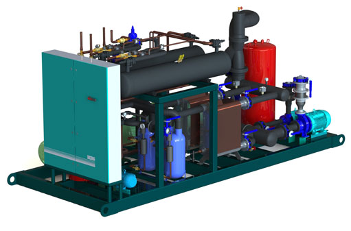 Cooling Unit Animation : Recreational chiller ice rink cooling systems berg