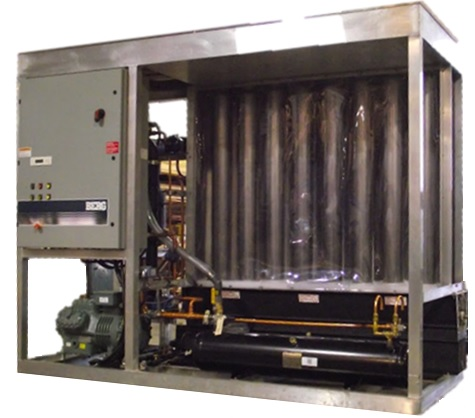 10 ton shell ice machine with aluminium frame