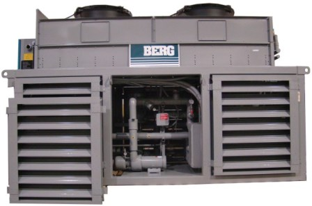 Deck Mounted Air Cooled Marine Chiller with Centre Panel Removed