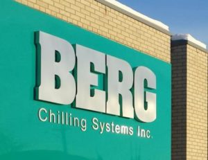 Berg Chilling Systems Sign