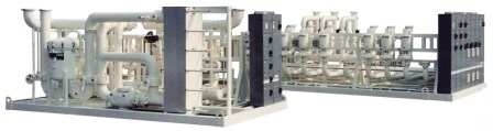 Closed Loop Pumping Skids with heat exchangers and controls