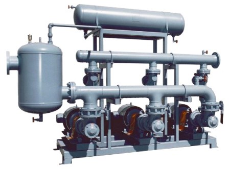 Closed Loop Pump Skid with sand filter.