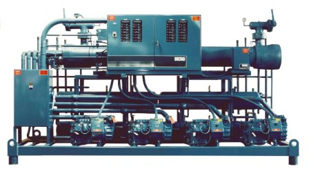 Indoor Remote Air Cooled Chiller with multiple compressors and control panel