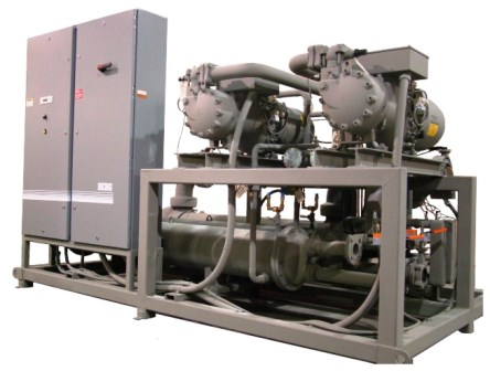 Water Cooled Industrial Refrigeration Skid Package
