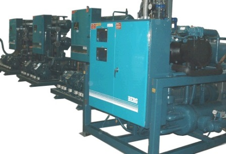 Bank of Mass Thermal Air Dryers in operation