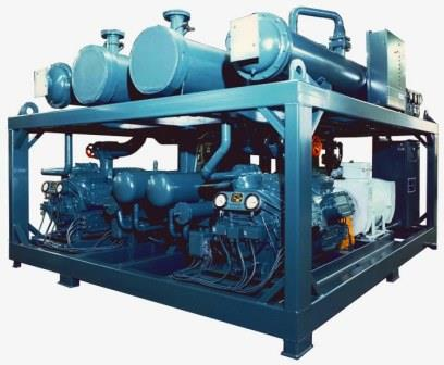 Compact Water Cooled Chiller for Marine Applications