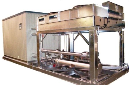 Outdoor Air Cooled Chiller with Weatherproof Room