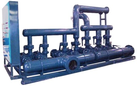 Skid Mounted Pump System with dual headers and controls