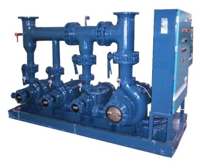 Skid mounted Industrial Pumps with control panel