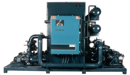 Skid Mounted Air Cooled Chiller with Pumps and controls