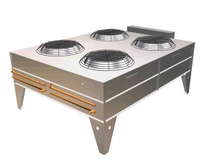Remote Outdoor Condenser with four fans