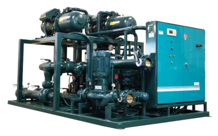 Industrial Skid Mounted Water Cooled Package Chiller