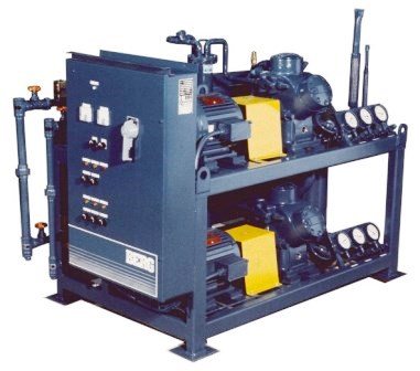 Compact skid Mounted sea water chiller for marine use