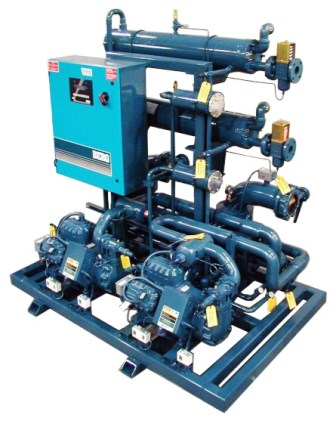 Skid Mounted Water Cooled Chiller with small footprint