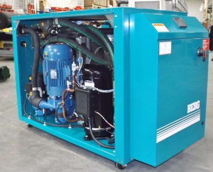 Portable Water Cooled Chiller with access panel removed