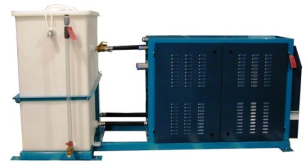External mixing tank attached to portable chiller