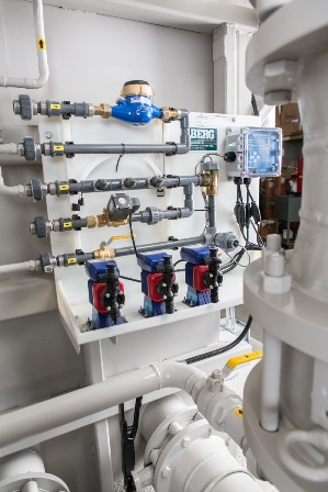 Chemical Treatment Package for a process water system