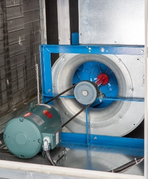 Easily accessible blower in Berg's industrial dehumidifier