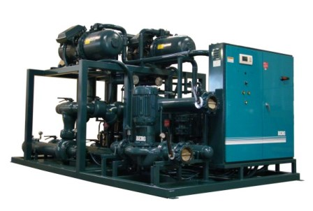 Industrial central water cooled chiller package;