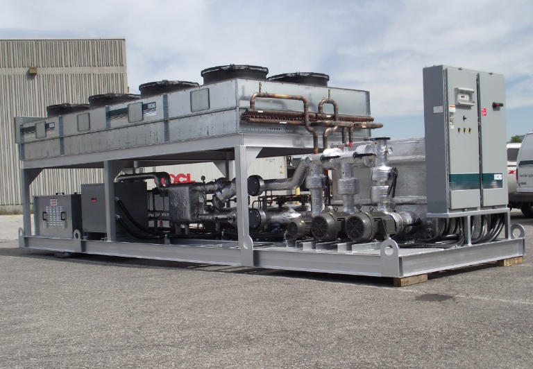 90 Ton Air Cooled Outdoor Packaged Chiller With Pump Tank