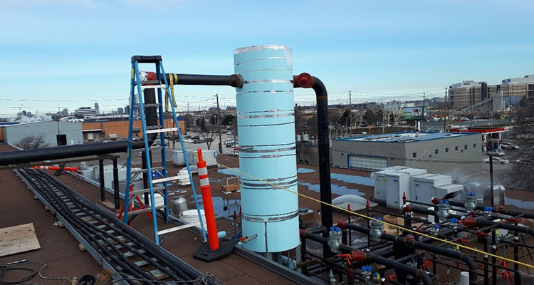 Insulated lines for the Global Egg food processing cooling project