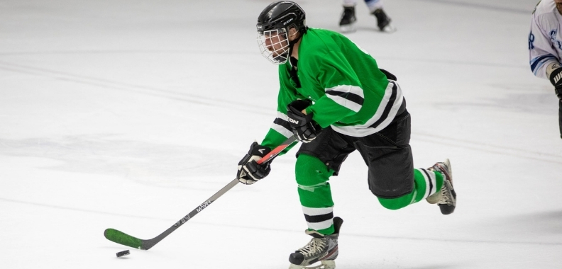 Guy Playing Hockey